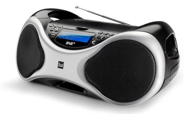 [3% Qipu] Dual DAB+ Radio DAB-P 100 CD-Radio Silber, Schwarz für 79,99€ frei Haus @Völkner