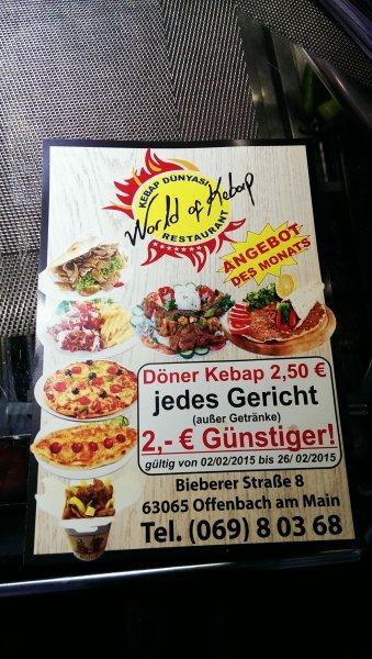 [Lokal Offenbach] Döner und co. - alles 2 Euro günstiger.