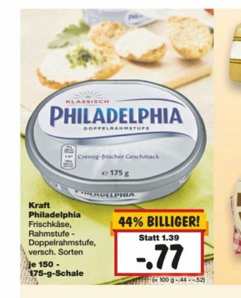 Lokal - Kaufland Nürnberg Philadelphia 150-175 Gramm für 0,77 Euro