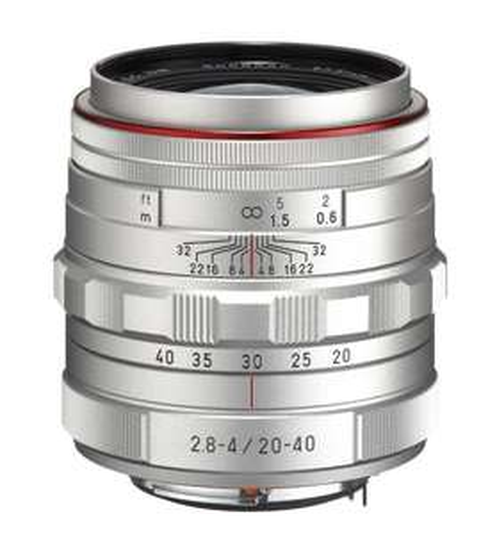 Pentax 20-40 mm / F 2,8-4,0 HD DA ED LIMITED DC WR Objektiv silber für 668,45 € @Amazon.fr
