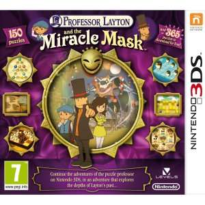 Professor Layton and the Miracle Mask 3DS für 7,45€ @zavvi.com
