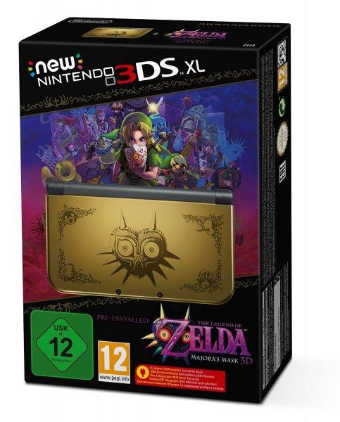 [Amazon] New Nintendo 3DS XL gold inkl. Legend of Zelda: Majora's Mask 3D