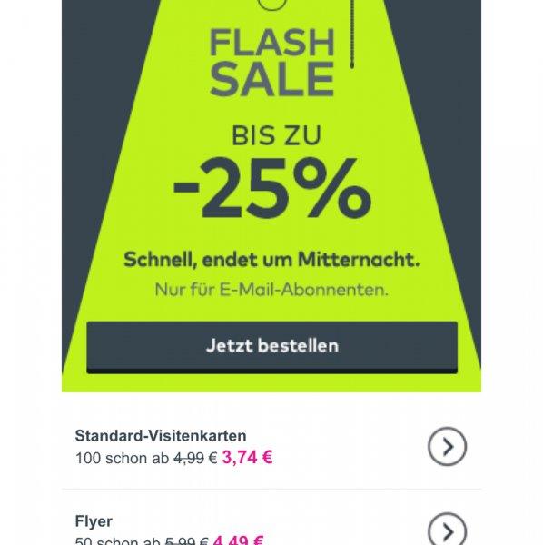 Vistaprint 25% auf alles ! (nur für newsletter empfänger)
