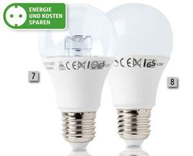 LED Leuchtmittel verschiedene Sorten, je 2er-Set 4,99€ ab 16.02. [ALDI SÜD]
