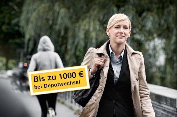 Commerzbank Depotwechsel - 190 Euro Cash / Aufwand