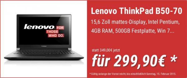Lenovo ThinkPad B50-70 MCC32GE Notebook für 299,90€ bei notebooksbilliger.de