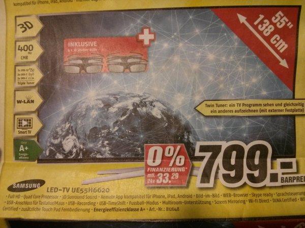 [Lokal Hannover & Hildesheim] Medimax: Samsung UE55H6620 (799€) + UE40H6620 (499€)