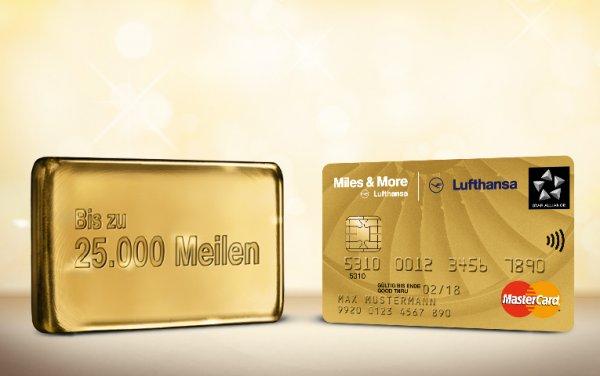 Miles and More Kreditkarte Gold World Business + 25.000 Meilen Startguthaben