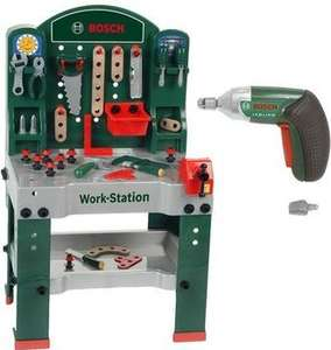 Wieder da und dauerhaft günstig: Theo Klein Bosch Spielzeug-Werkbank inkl. Ixolino Akkuschrauber für 34,99€ frei Haus [Voelkner]