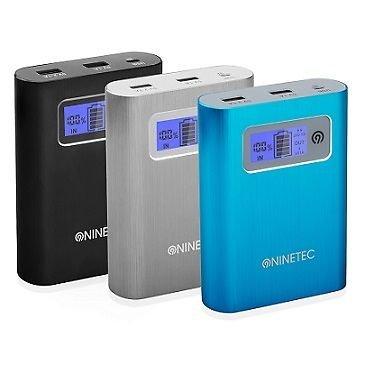 NINETEC PowerDrive 2in1 16GB Flash Speicher+13.400mAh Power Bank Akku Black [ebay WOW]