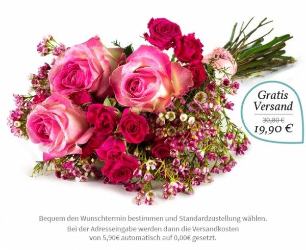 [VALENTINSTAG] Rosenstrauß von Miflora für 19,90€ inkl. Versand