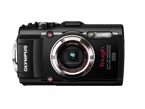 Olympus TG-3 Digitalkamera (16 Megapixel CMOS-Sensor, 4-fach opt. Zoom, WiFi, GPS, wasserdicht bis 15m, kälteresistent, Staub/Stoß und bruchgeschützt) mit F2,0 Objektiv schwarz für 297,51€ @Amazon.it