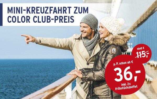 Colorline Club Mitglieder - Mini-Kreuzfahrt inklusive Frühstückbuffet  ab 36 € statt 115 €