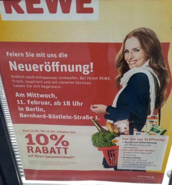 [Berlin Lichtenberg] REWE Neueröffnung - 10% Rabatt (11.02.2015, 18:00)