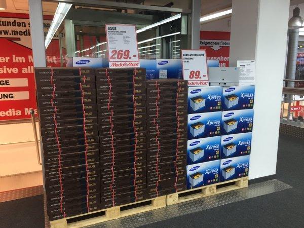 [Media Markt Neuwied/Lokal???] - Notebook - Asus R512MAV-BING-SX996B für 269EUR oder mit Drucker CLP365, Office 365, Druckerpapier für 391EUR