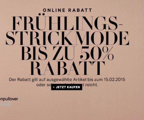 [H&M ONLINE] ausgewählte Frühlingsmode für Sie und Ihn bis zu 50% günstiger (nur 4 Tage!)