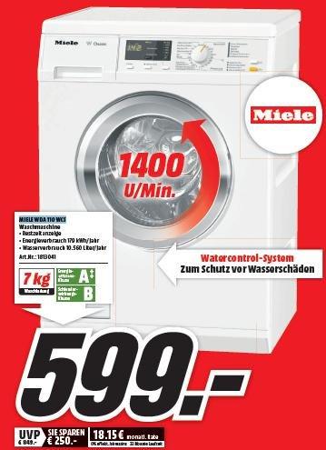 [lokal MediaMarkt Göttingen] Miele WDA 110 WCS A++ Waschmaschine für 599