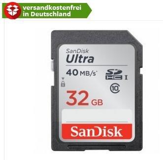 Sandisk SDHC Ultra 32GB Class 10 UHS-I für 12€ bei Comtech