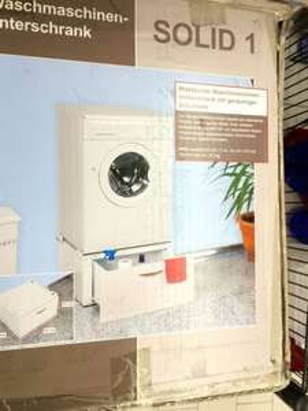 Waschmaschinenunterschrank Solid 1 für 20,00 Euro (ca. 40% Ersparnis) bei real Berlin Treptow