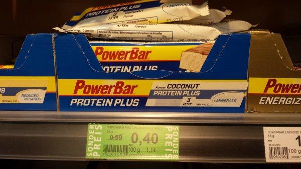 [Rossmann] PowerBar Protein Plus Riegel: Coconut & Mixed Berry