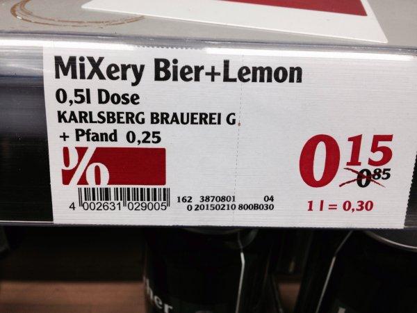[Lokal?] Globus Maintal - Mixery Bier+Lemon 0,15 €