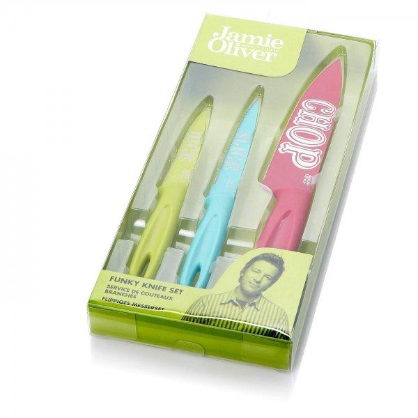 Jamie Oliver Messer-Set - 3 x Funky Knives - Groupon - 10,79 Euro (2 für 19,78 Euro)