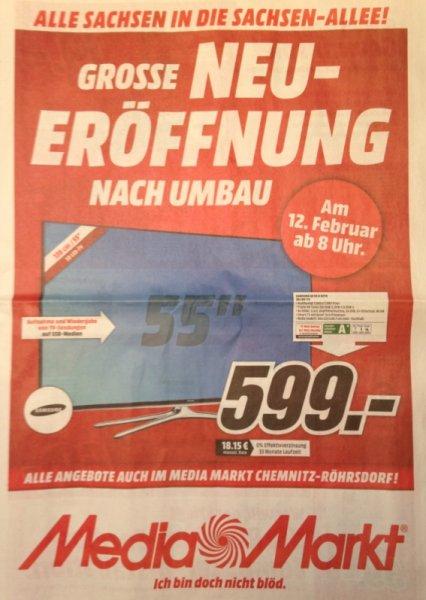 [LOKAL Chemnitz] Samsung UE55H6270 599€; LG 55LB679V 777€ @MediaMarkt Sachsen-Allee