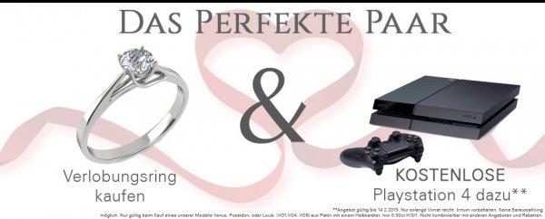 [Augsburg & München] Perfektes Valentinstagsgeschenk: Playstation 4 kostenlos mit Ring und Best-Preis-Garantie bis 14.02.