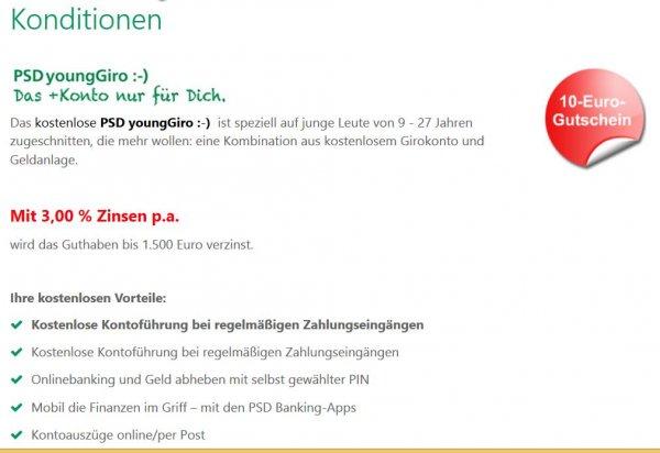 Lokal Braunschweig - Kostenloses Girokonto und Zinsen in Höhe von 3,0 % bis 1500 Euro