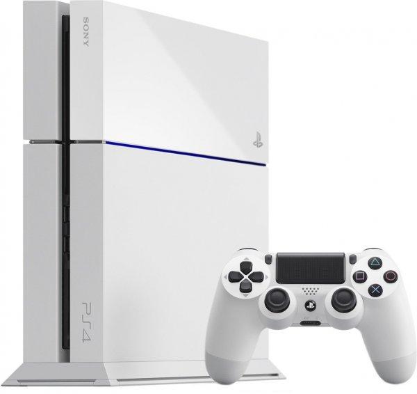 Sony PlayStation 4 500GB weiß inkl. Dual Shock Controller für 355€ incl Versand