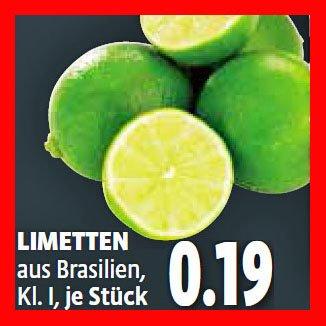 Limette die Besten für günstige 19 Cent UND Cachaça Pitú 30% günstiger [Kaisers]
