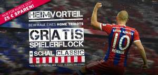 [FC Bayern Shop] Gratis Flock und Classic Schal bei jedem Heimtrikot bis 13.02.