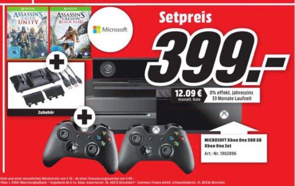 [MM Dortmund] Xbox One 500gb + Kinect + Beide AC + 2. Controller + Zubehör