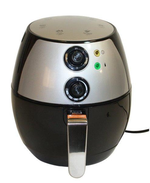 Elektrische Heißluftfritteuse (2L Füllmenge / 1300 Watt) in schwarz-silber für 49,95€ frei Haus @DC
