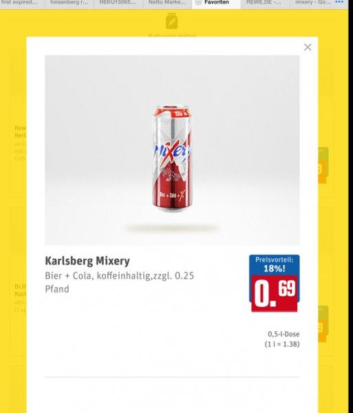 Rewe Mixery Dosen z.B. 24 Stück