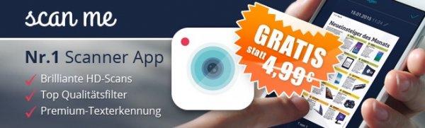 Scan me: Premium Scanner kostenlos statt 4,99€ bei Appdeals (iOS)