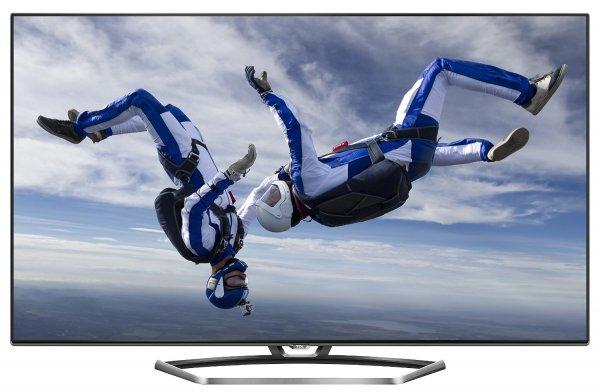 TCL U40S7606DS 102 cm (40 Zoll) 3D LED-Backlight-Fernseher (Ultra HD, 200Hz CMI, DVB-T2/C/S2, CI+, HDMI 2.0, Smart TV, HbbTV, WLAN) inkl. 2x Aktiv-3D-Brille silber/schwarz [Energieklasse A] für 449,99€