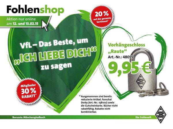 Borussia Mönchengladbach FanShop 20% auf Alles (Mitglieder 30%)