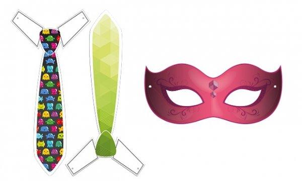 Närrische Karnevalsmasken zum Ausdrucken @Groupon