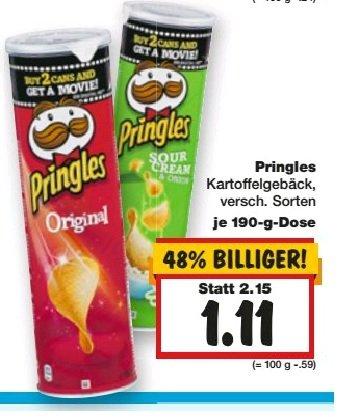 [Bundesweit] Pringles 1,11€ (alle Sorten) bei Kaufland ab dem 19.02.2015