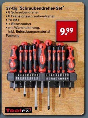 [ Netto mit Hund ] 37-tlg Schraubendreher/Bit Set 9,99€