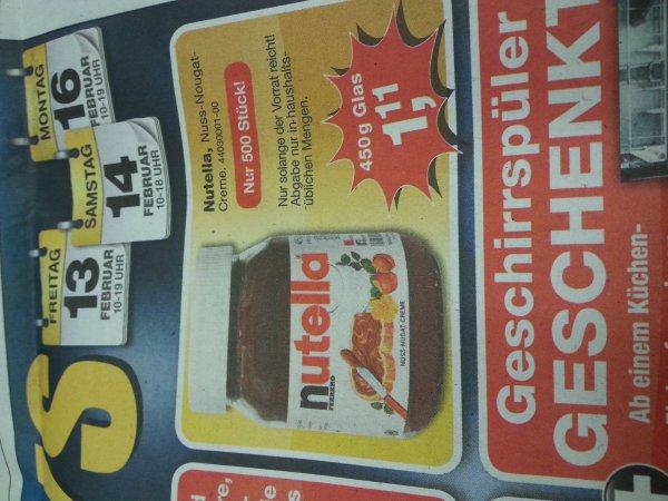 [Lokal Gadenstedt] Nutella 450g für 1,11 € bei Tejo Wohnwelt.  KG = 2.46 Euro.