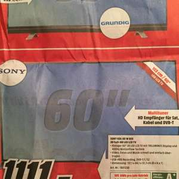 Sony KDL-60W855B Media Markt Kassel