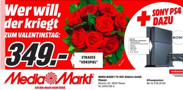Valentinstag-Special! PS4 inkl. Wireless Dualshock Controller und ein Strauß Rosen @MM Plauen