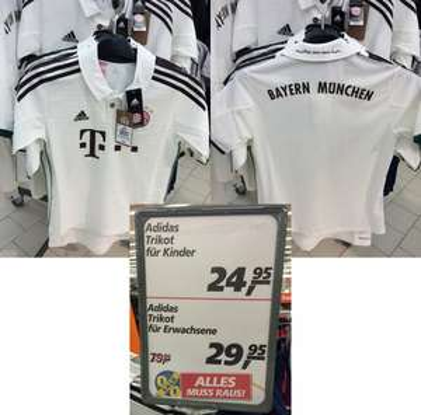 Lokal - REAL Nürnberg - Adidas Climacool FC Bayern München Trikot 2014 Größen 128-XXL