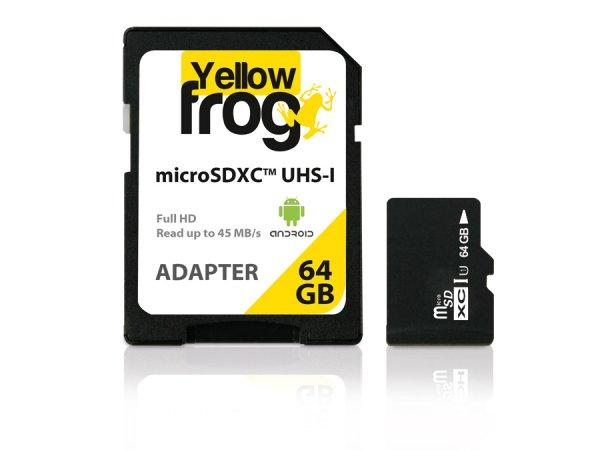 [www.pollin.de] microSDXC Karte 64 GB, UHS-1, 45 MB/s mit Gutschein nur 26,85€