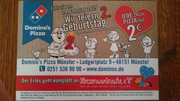 [Lokal Münster] Jede 24cm Pizza für 2€ bei Domino's am 14.2.15