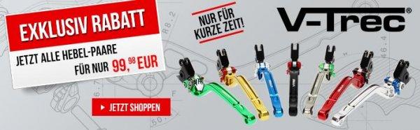 V-Trec Motorrad Hebelsets Aluminium Individuelle Farbgestaltung 99,98€ bzw. 94,98 bs-motoparts Shop