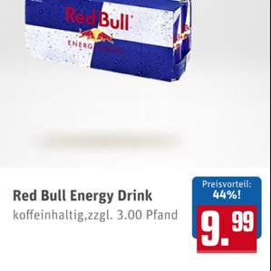 REWE 24xRed Bull - 15€ (63 Cent/Dose)