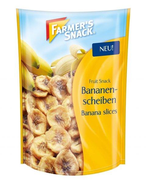 Amazon Prime  Blitzangebot Preis: Farmer's Snack Bananenscheiben, 4er Pack (4 x 150 g) Nur 6,99 €